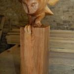 sculpture chouette effraie