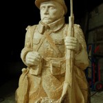 sculpture d'un poilu