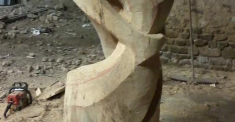 sculpture en grande dimension, marronnier.