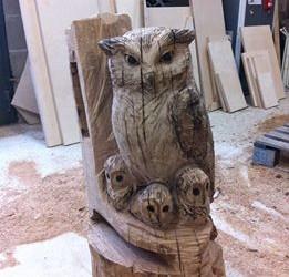 sculpture hibou